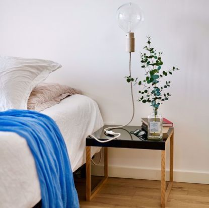 Picture of Table beside bed