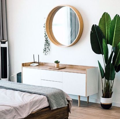 Picture of Wooden dresser with mirror